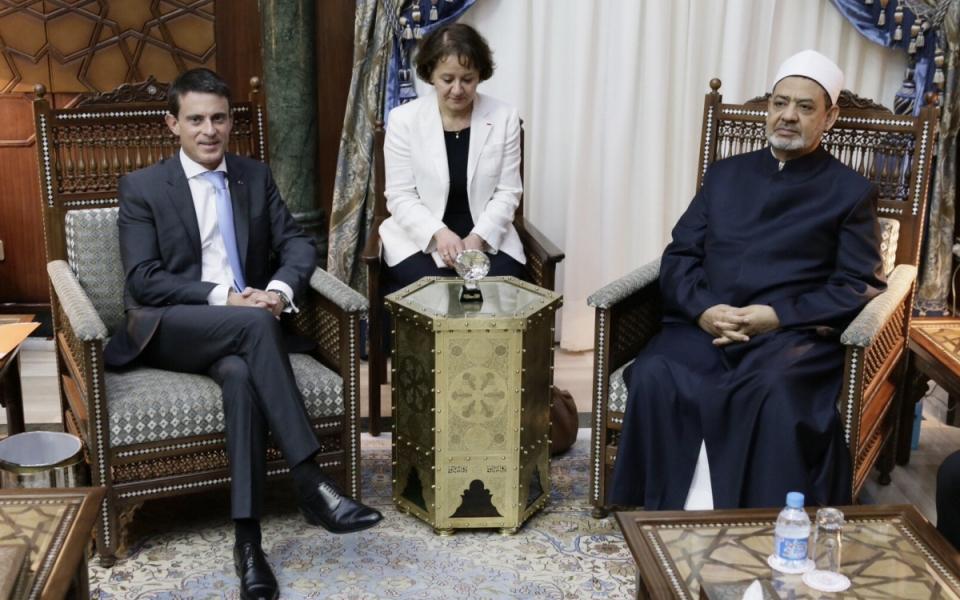 Entretien de Manuel Valls avec le Cheikh Ahmad Al Tayeb, Grand Imam d'Al Azhar (Egypte)