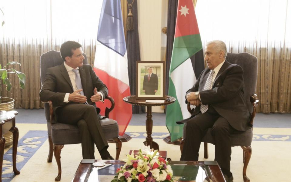 Entretien de Manuel Valls avec Abdullah Ensour, Premier ministre de Jordanie