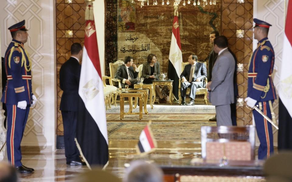 Entretien de Manuel Valls avec Abdelfatah Al Sisi, président de la République arabe d'Egypte