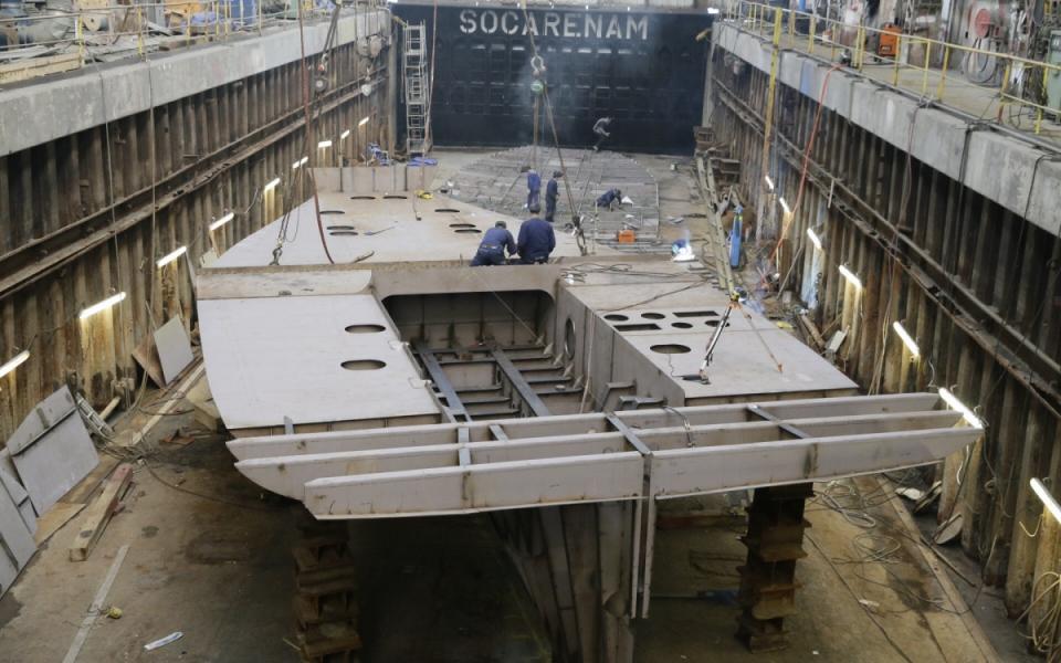Le chantier naval de la Socarenam