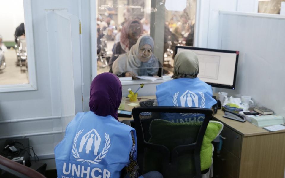 Accueil des réfugiés par le Haut-Commissariat des Nations Unies pour les réfugiés