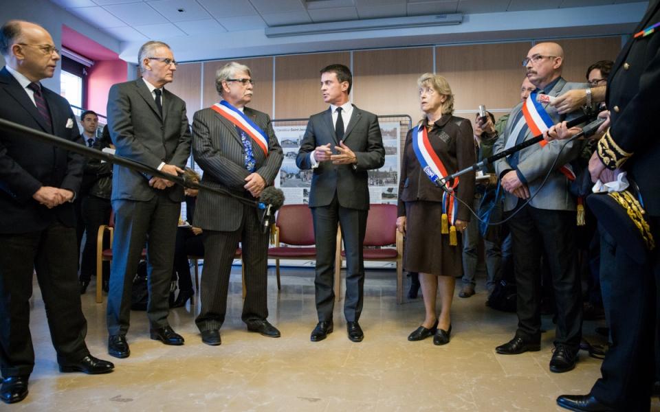 Accueil de Manuel Valls à la mairie de Moirans