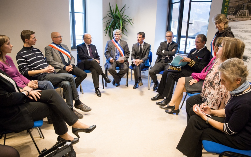 Manuel Valls rencontre les élus et les habitants de Moirans