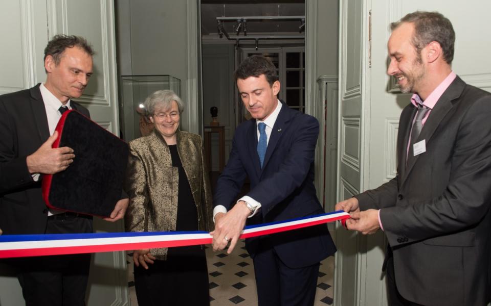 Manuel Valls inaugure le musée Rodin rénové en présence de la directrice Catherine Chevillot
