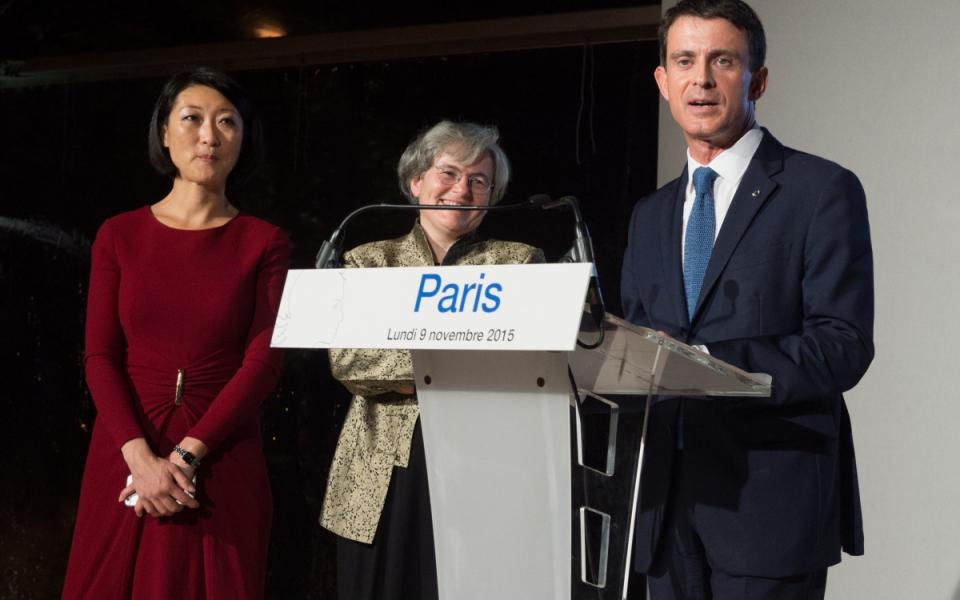 Allocution de Manuel Valls au musée Rodin, en présence de Fleur Pellerin et la directrice Catherine Chevillot