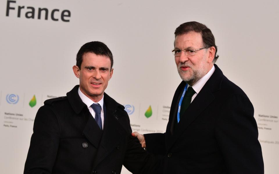 Manuel Valls et Mariano Rajoy, président du gouvernement espagnol