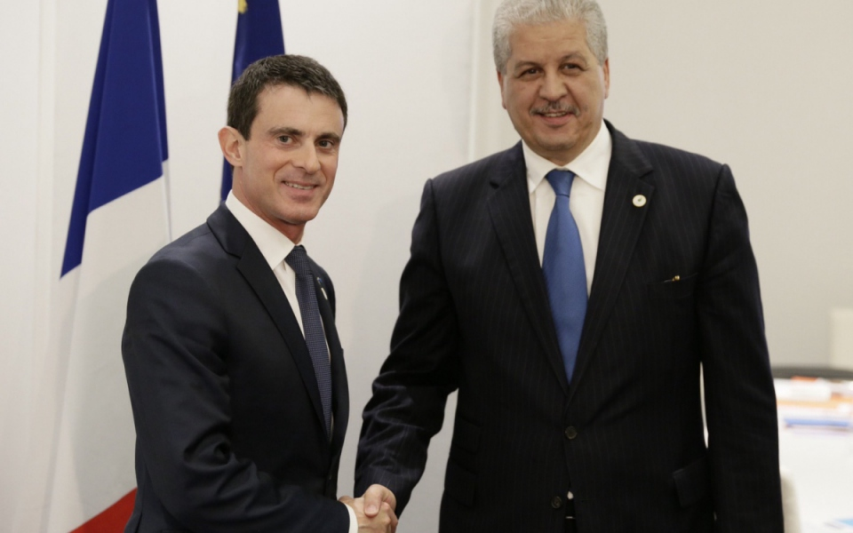 Manuel Valls et Abdelmalek Sellal, Premier ministre de la République algerienne democratique et populaire