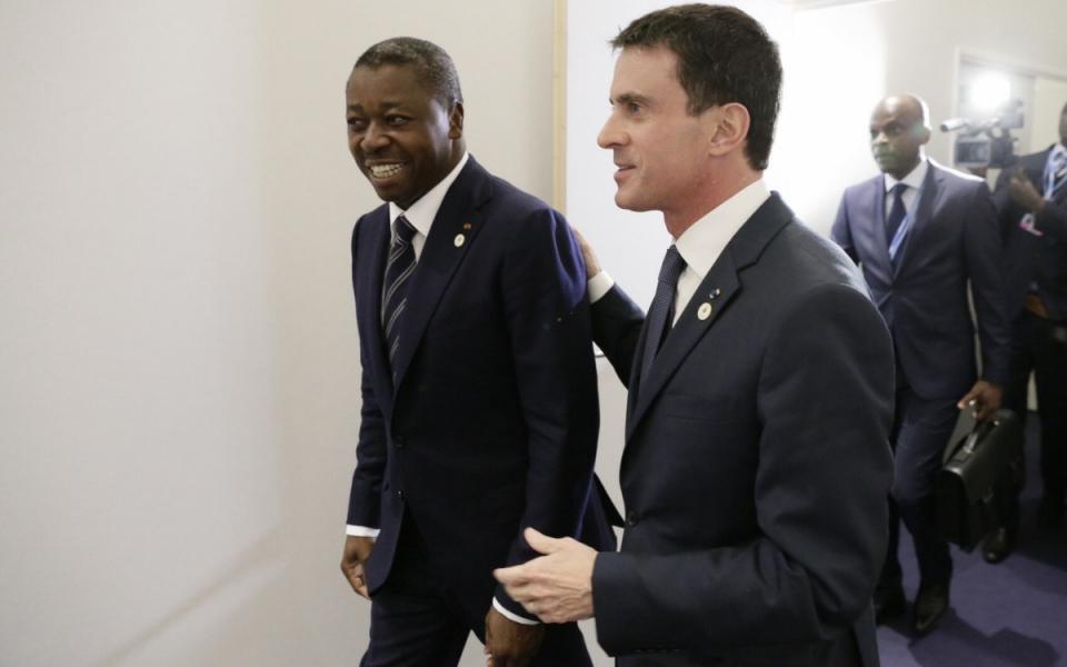 Manuel Valls et Faure Gnassimbé, président de la République togolaise