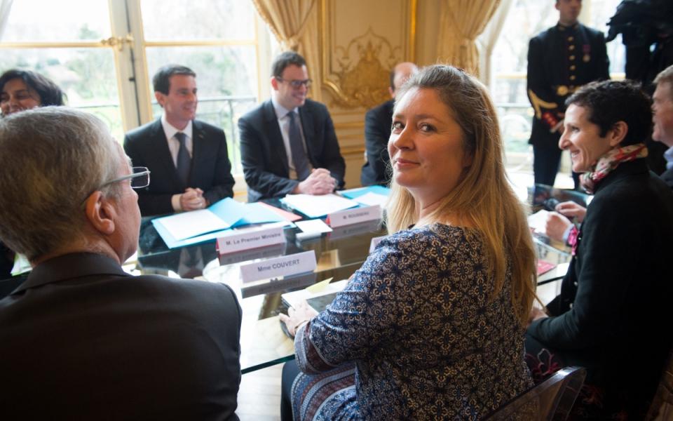 Entretien de Manuel Valls avec Carole Couvert, présidente de la CFE-CGC
