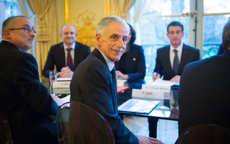 Entretien de Manuel Valls avec Philippe Louis, président de la CFTC