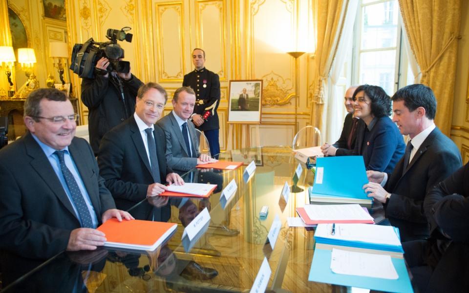 Entretien de Manuel Valls avec François Asselin, président de la CGPME