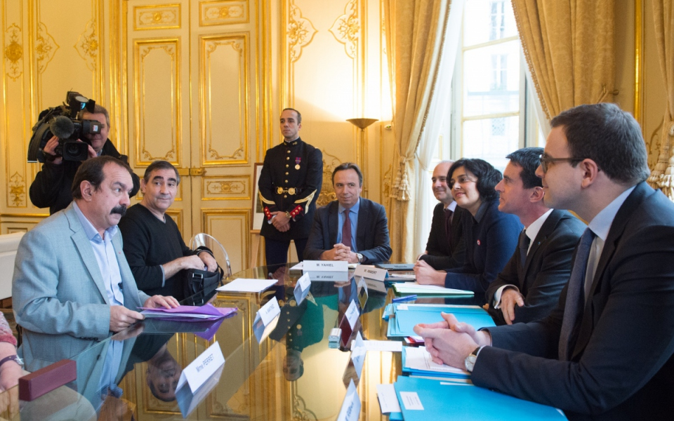 Entretien de Manuel Valls avec Philippe Martinez, secrétaire général de la CGT