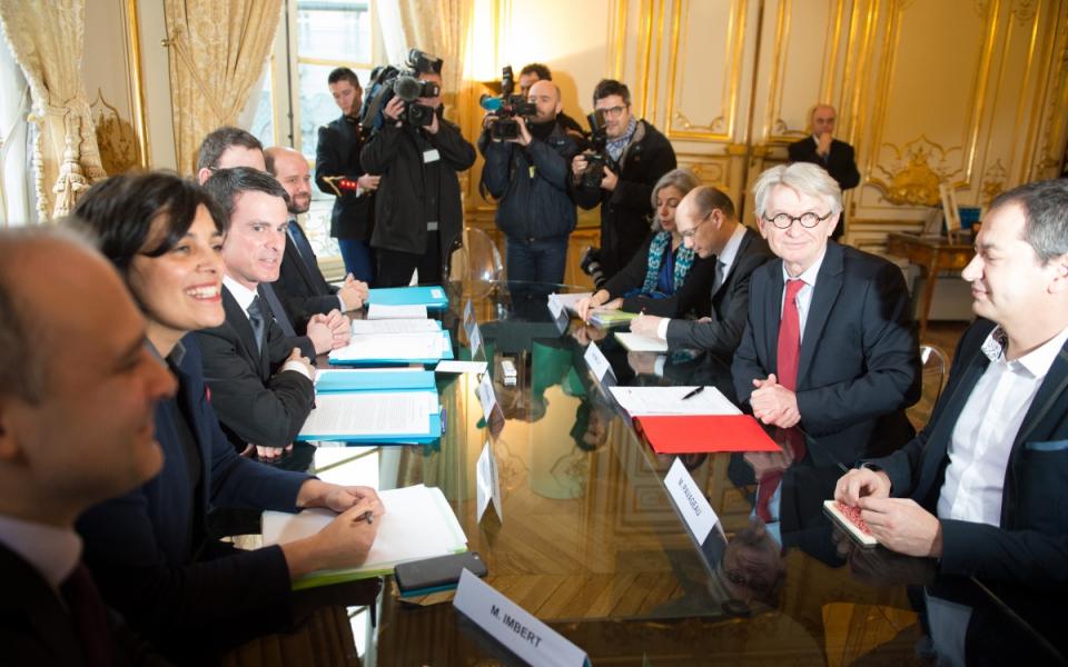 Entretien de Manuel Valls avec Jean-Claude Mailly, secrétaire général de FO