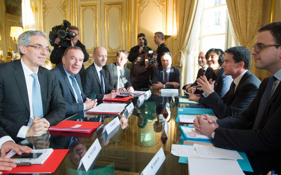 Entretien de Manuel Valls avec Pierre Gattaz, président du MEDEF