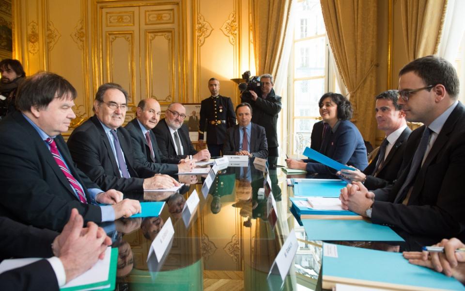 Entretien de Manuel Valls avec Jean-Pierre Crouzet, président de l'UPA