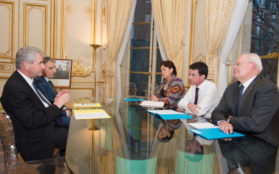 Entretien de Manuel Valls avec Philippe Richert, président du conseil régional d'Alsace-Champagne-Ardenne-Lorraine