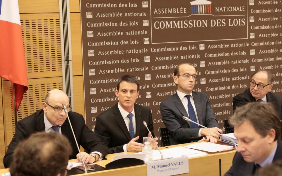 Manuel Valls s'exprime devant la commission des lois de l'Assemblée nationale