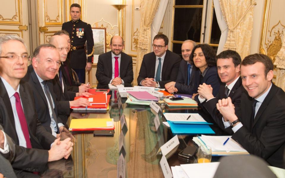 Manuel Valls s'entretient Pierre Gattaz, président du Médef