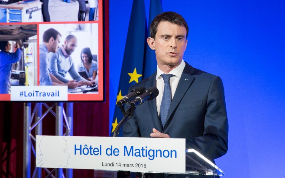 Manuel Valls lors de la conférence de presse