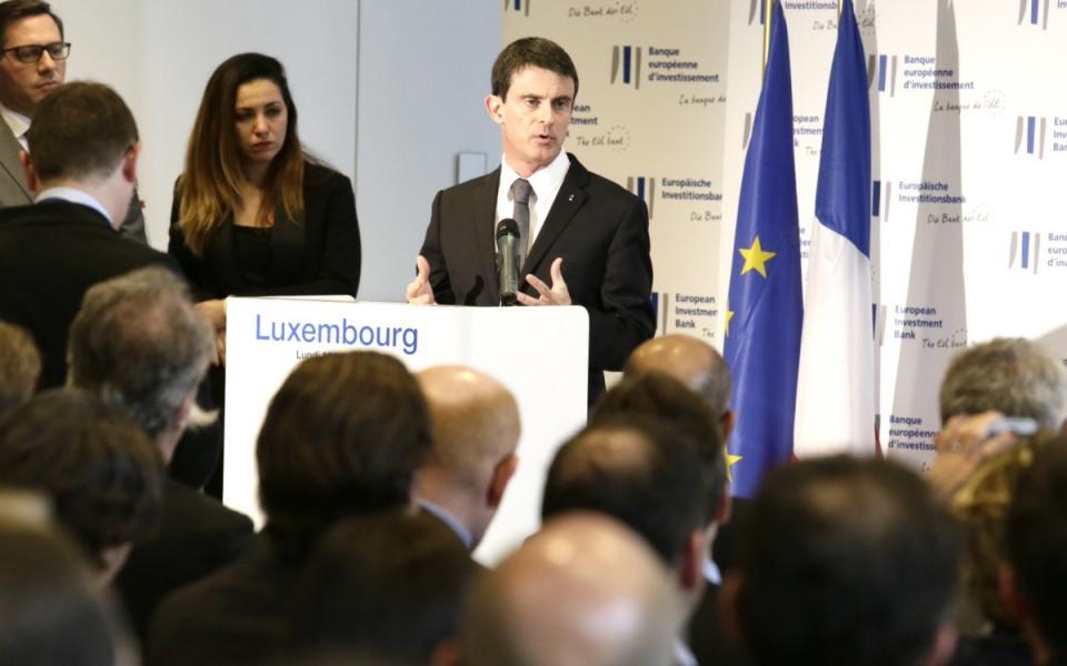 Intervention de Manuel Valls à la Banque européenne d'investissement