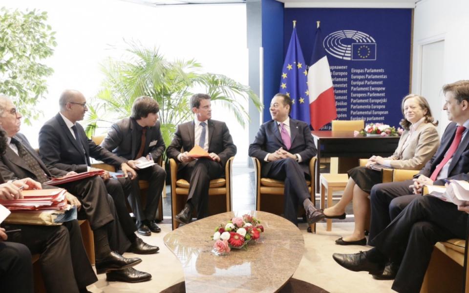 Entretien de Manuel Valls avec Gianni Pittella, président du groupe Socialistes et démocrates (S&D)