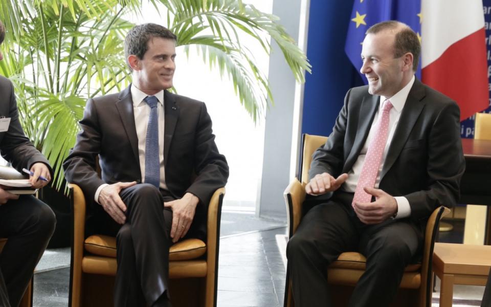 Entretien de Manuel Valls avec Manfred Weber, président du groupe du Parti Populaire Européen (PPE)