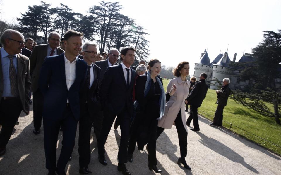 Manuel Valls visite le site du château de Chaumont-sur-Loire