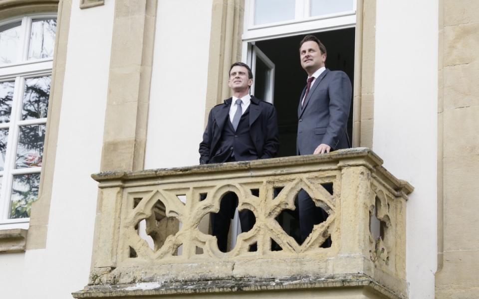 Manuel Valls avec Xavier Bettel, Premier ministre du Luxembourg
