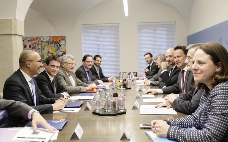 Réunion de Manuel Valls avec Xavier Bettel, Premier ministre du Luxembourg