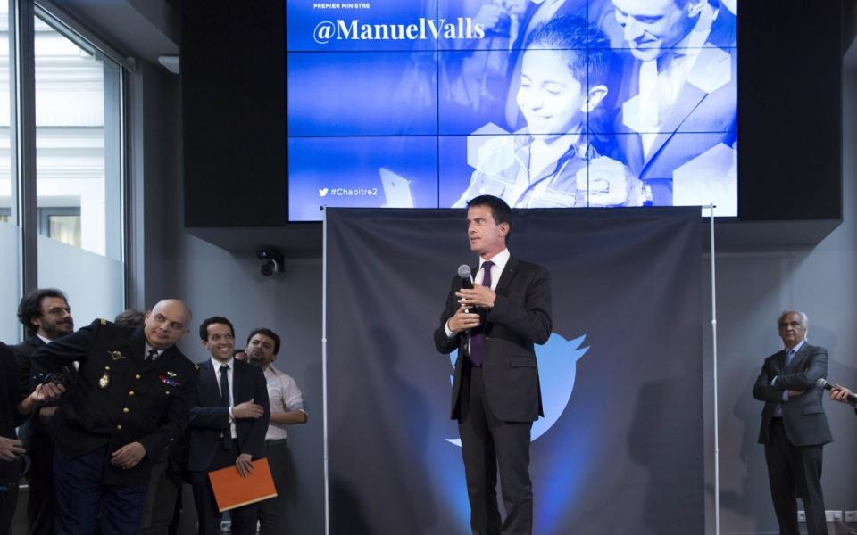 Allocution de Manuel Valls à l'occasion de I'nauguration des bureaux de Twitter France