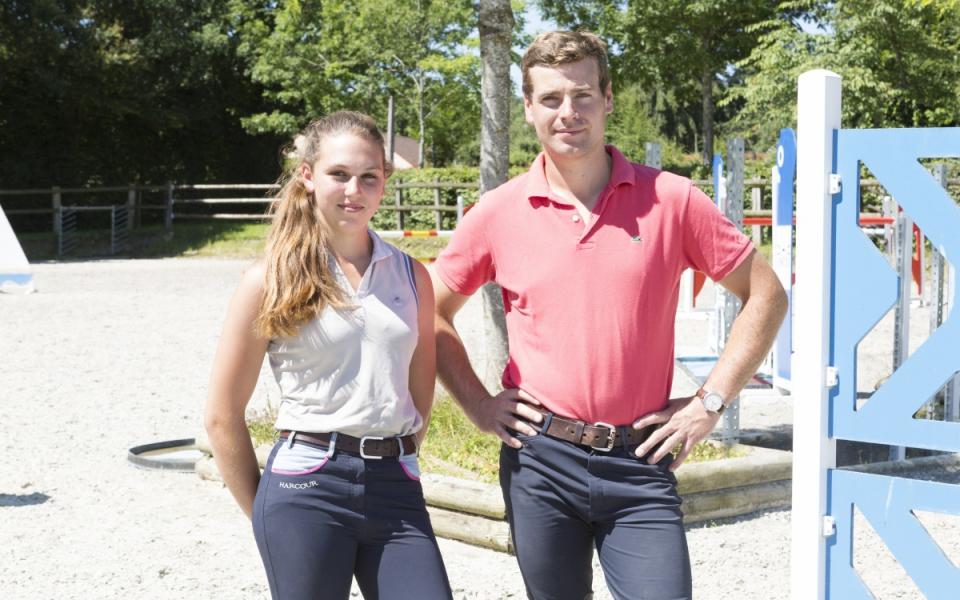 Mathilde et son maître d'apprentissage, Alexis Champion, sur leur lieu de travail.