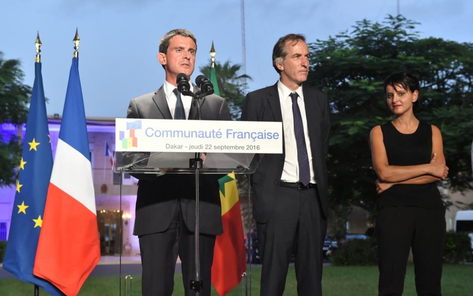 Avec Najat Vallaud-Belkacem devant la communauté française