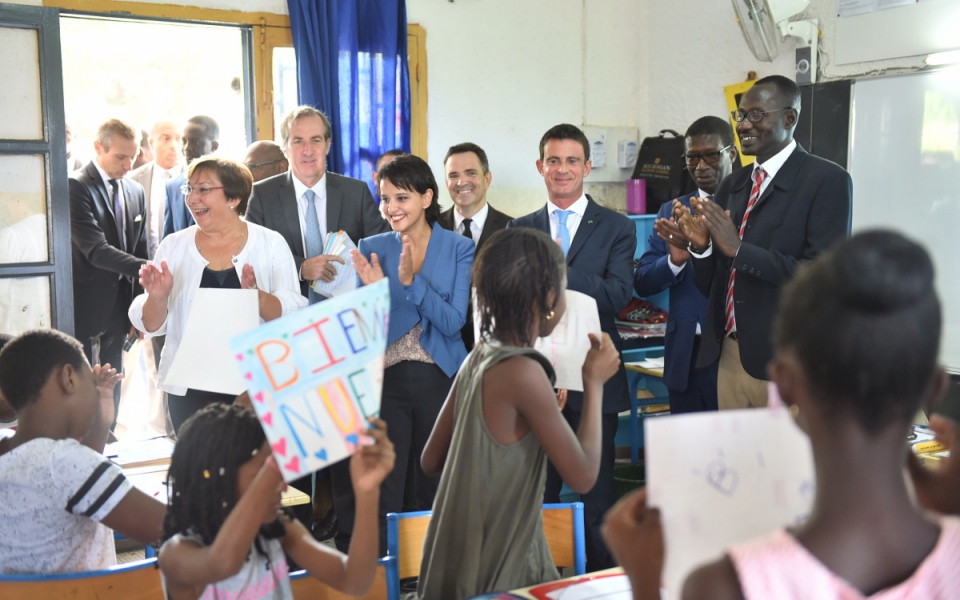 Visite de l'école franco-sénégalaise Dial Diop