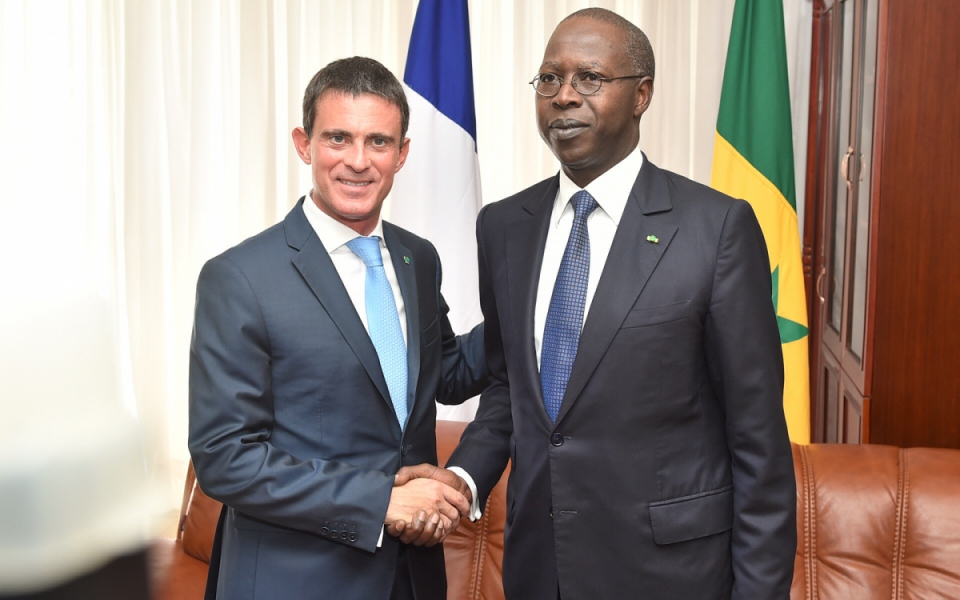 Manuel Valls et son homologue sénégalais, Mahammed Boun Abdallah Dionne