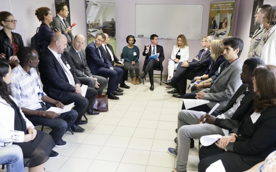 Visite du Centre d'accueil et d'orientation (CAO) à Epernay