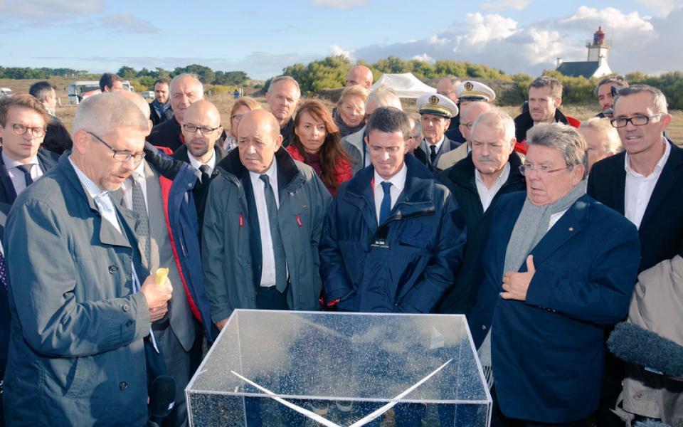 Présentation du projet éolien en Bretagne Sud par le porteur de projet EOLFI et par les services de l'Etat