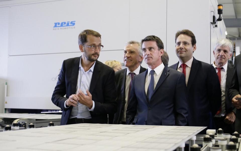Le Premier ministre visite l'entreprise Fonroche à Roquefort