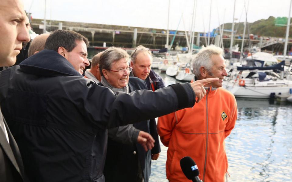 Le Premier ministre sur l'île de Groix