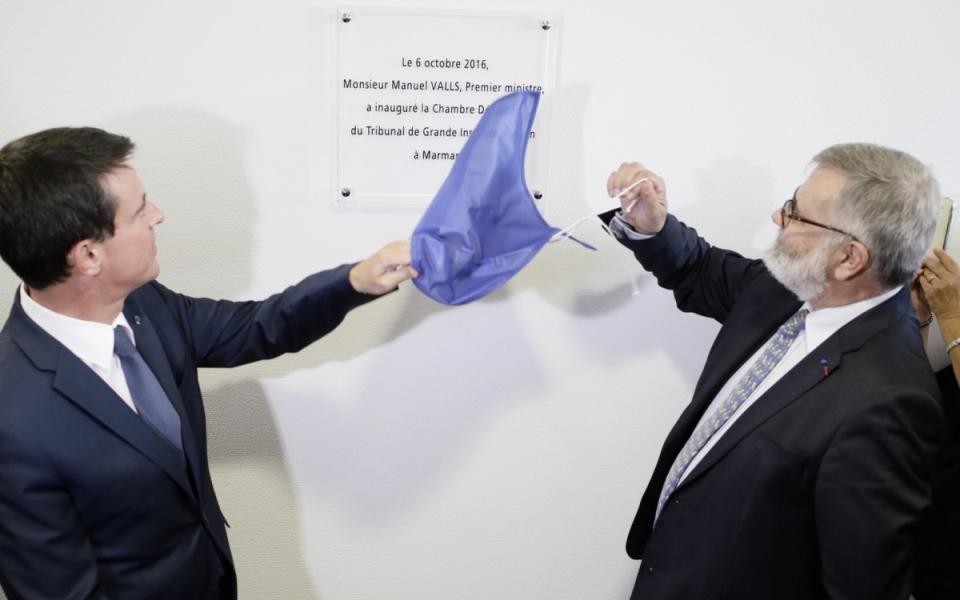 Dévoilement de la plaque de la chambre détachée du TGI à Marmande