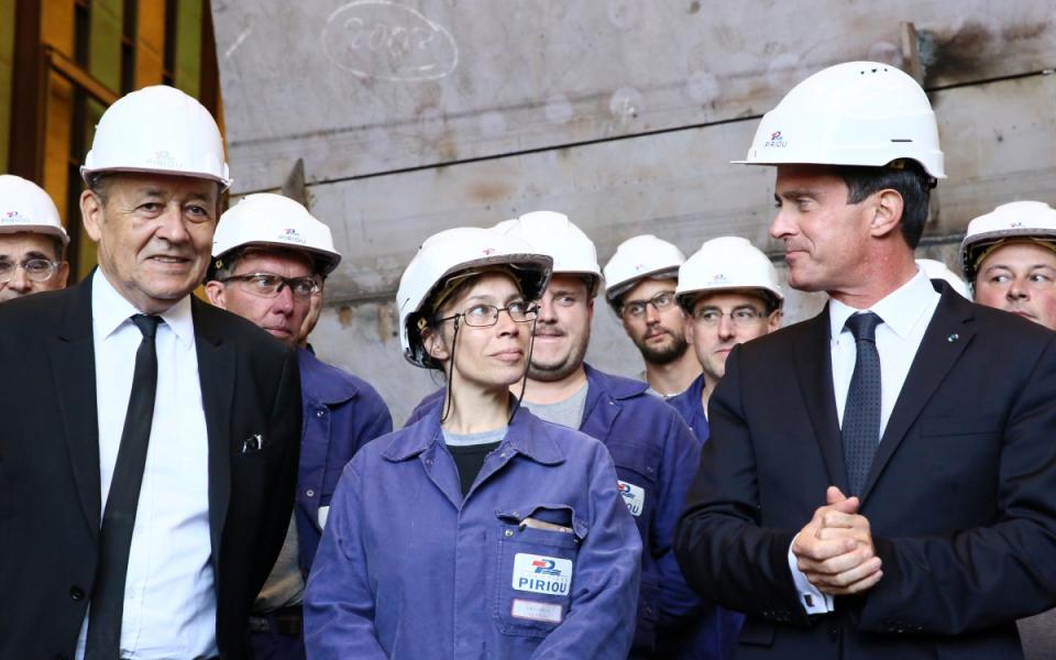 Visite des chantiers Piriou à Concarneau