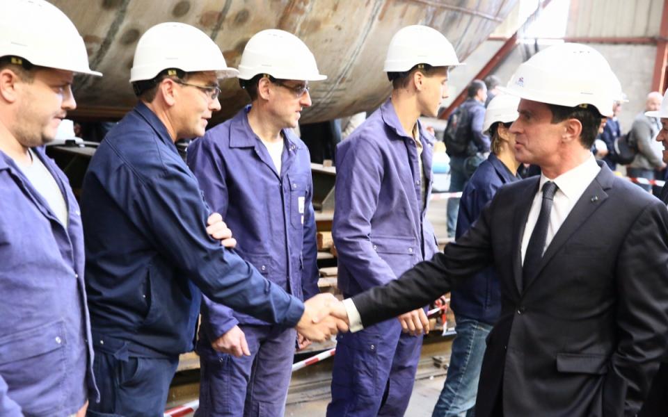 Visite des chantiers Piriou à Concarneau (port départemental)
