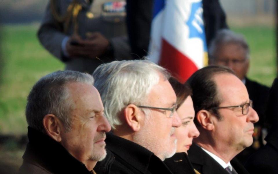 De gauche à droite : Dominique Raimbourg, Jean-Marc Todeschini, Emmanuelle Cosse, François Hollande