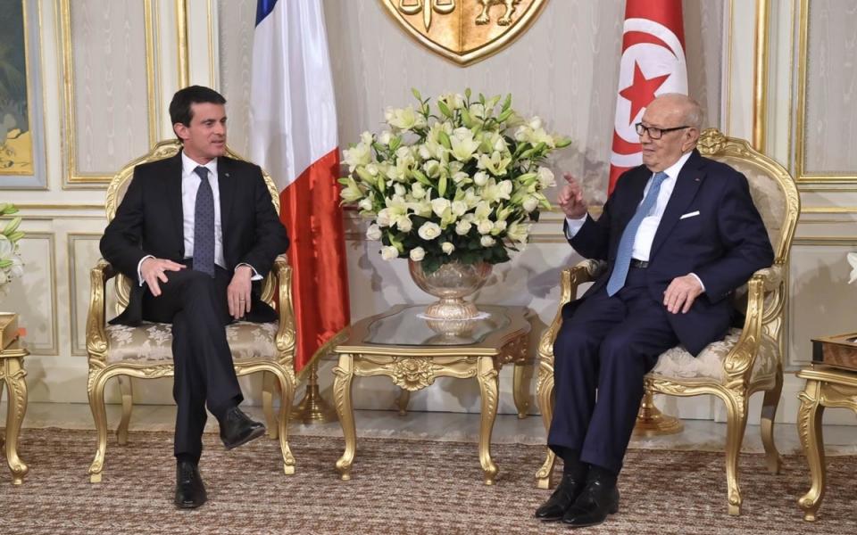 Manuel Valls et le Président de la République tunisienne, Béji Caïd Essebsi