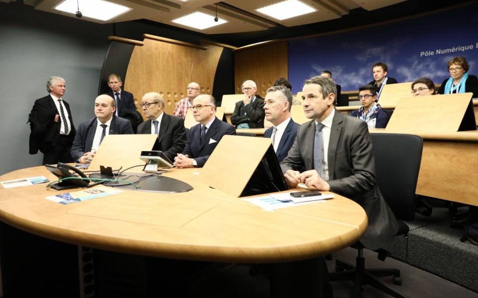 Le Premier ministre au campus numérique Brest Bouguen
