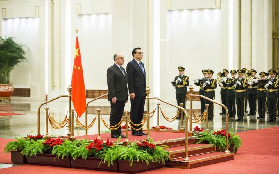 21/02 - Le Premier ministre aux côtés de son homologue chinois, Li Keqiang