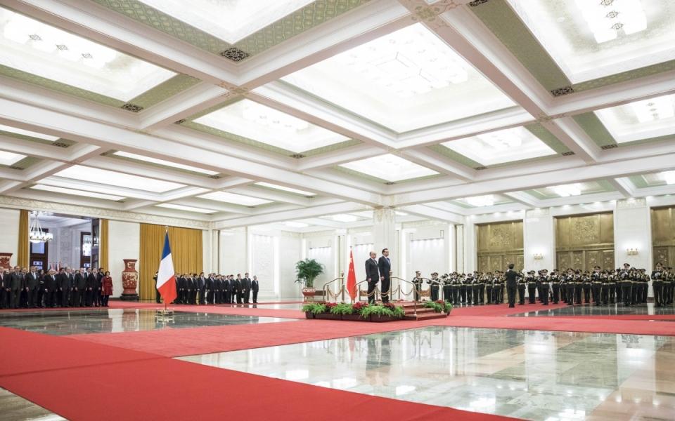 21/02 - Cérémonie d'accueil officiel du Premier ministre