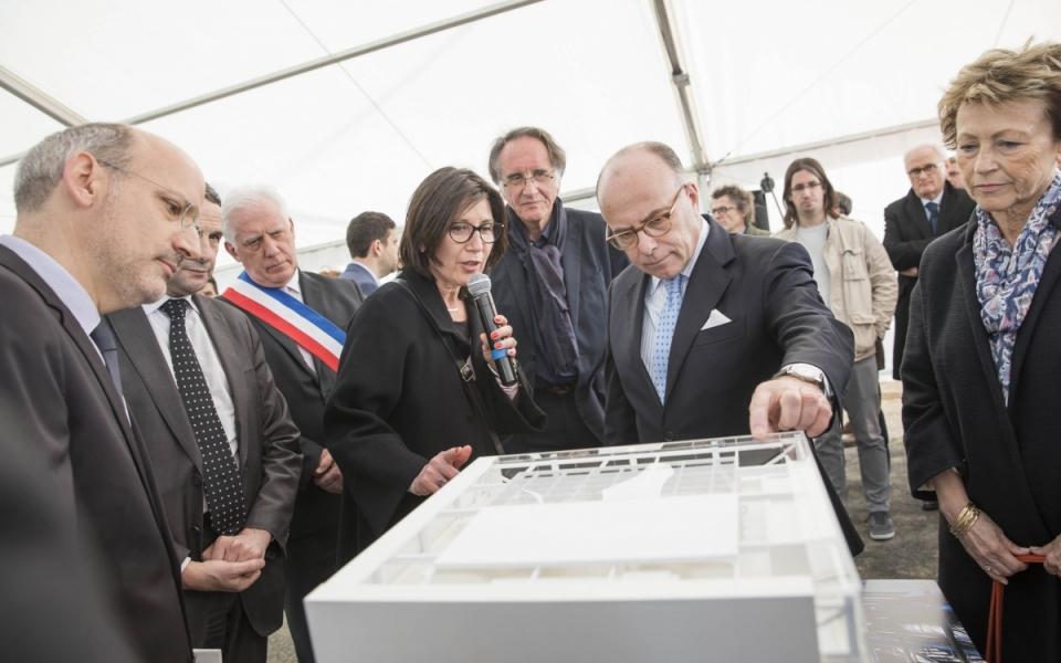 Présentation de la maquette du projet de l'ENS Paris-Saclay