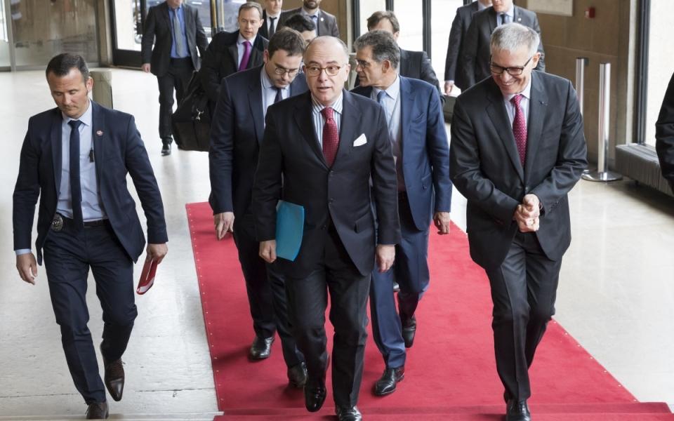 Arrivée du Premier ministre au Conseil économique, social et environnemental (CESE)