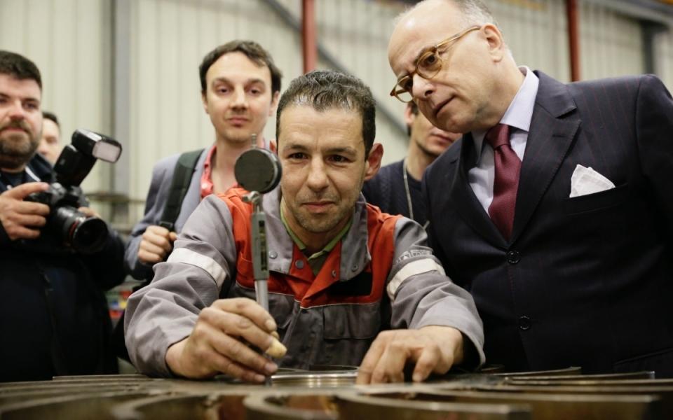 Le Premier ministre visite l'entreprise Clemessy Service à Vitrolles
