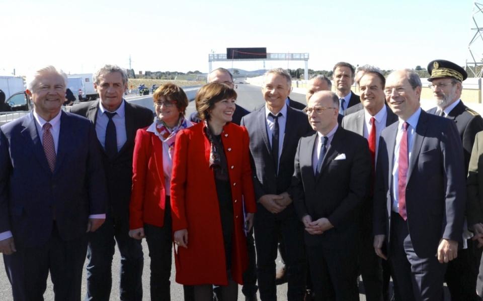Hérault - Inauguration de la nouvelle autoroute A9 à Montpellier